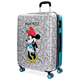 Disney Minnie Blue Valigia per bambini, 69 cm, 75 liters, Multicolore (Multicolor)