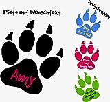 ***NEU*** Hunde Pfote mit Ihrem Wunschtext (freie Farb.- und Größenauswahl) 'Nur für kurze Zeit: 4 Handypfötchen gratis' (10cm)