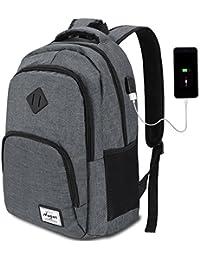 AUGUR Mochila Portatil 12 Colores con USB Puerto para Escolar Negocio- 35L