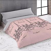 FUNDA NÓRDICA cama 90 cm PIERRE CARDIN (2 PIEZAS) LOVE rosa