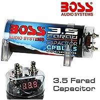 CONDENSADOR CAR AUDIO SYSTEM BOSS 3,5 FARAD CPBL3.5 BLUE AZUL X INSTALACIONES HASTA A 3500 WATT RMS 1 2 3 4 5 10 CAPACITOR CON CABLE REMOTOS DE ENCENDIDO