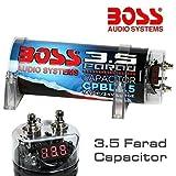 Boss CONDENSATEUR Car Audio 3,5 Farad CPBL3.5 BLU Bleu X INSTALLATIONS JUSQU'À 3500 Watts RMS 1 2 3 4 5 10 Capacitor avec CÂBLE LOINTAINES D'ALLUMAGE