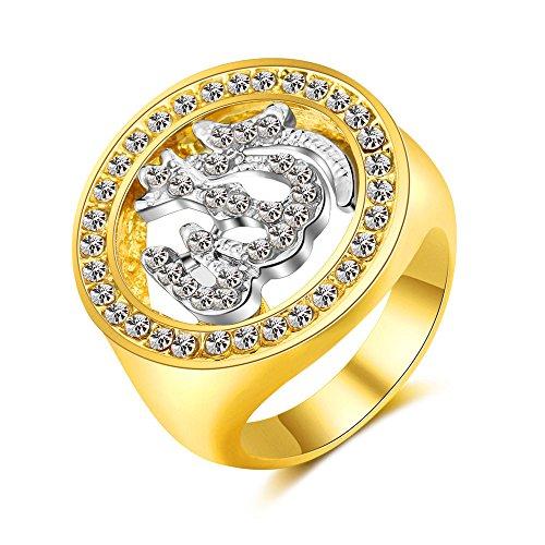 MCSAYS Muslim Ring New Fashion Iced Out Bling Finger Ring Zubehör - Alle Cz Herren Ringe