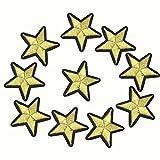 Cdet Vinilo de hierro en parches ropa pegatinas para ropa suéter diy transferencia térmica pegatina,Estrella dorada de cinco puntas