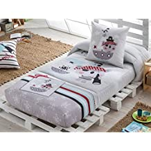 LaNovenaNube - Edredón Ajustable PIRATE cama 90