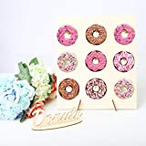 Adminitto88 Holz Donut Rack Rahmen Kreative Party Hochzeit Liefert Ornamente Donut Show Rack Für Geburtstagsfeier Dekoration Party Home Handwerk