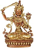 Exotic India - Figura de Manjushri budista tibetano - Estatua de latón