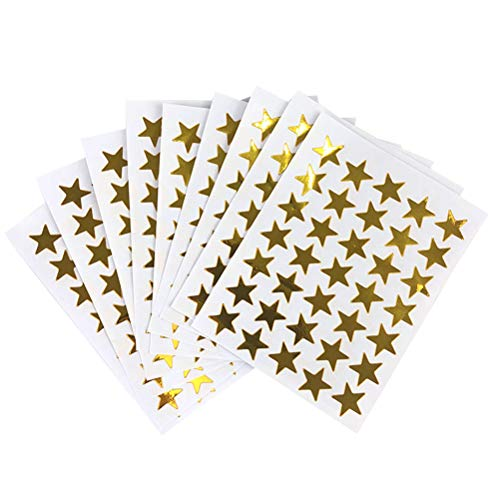 TOYANDONA 10pcs Belohnung Aufkleber Gold Brief Aufkleber Glitzer Sterne Aufkleber süß Foto Aufkleber DIY Kunst und Handwerk täglichen Planer Kugel Tagebücher (Planer Aufkleber Gold)