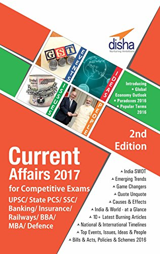 Current Affairs 2017 for Competitive Exams - UPSC/State PCS/SSC/Banking/Insurance/Railways/BBA/MBA/Defence