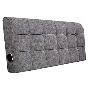 QIANCHENG-Cushion Kopfteil Kissen Bett Rückenkissen Rückenlehne Stoff Kissen Waschbar Zuhause Einfach Modern, Mit/Ohne…
