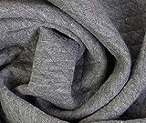0,5m Steppstoff Konfetti - grau meliert