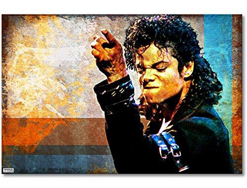 Verschiedene Kostüm Jackson Michael - WandbilderXXL® Gedrucktes Leinwandbild