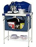 Garden Mile Blau Tragbarer Faltbarer Camping Im Freien Küche Essen Schrank Und Tabelle Kompakt Speisekammer BBQ & Gasherd Ständer