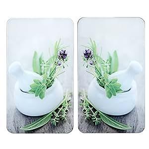 Wenko 2521399100 Protège-Plaque Universel Taille XL Jardin de Fines Herbes 2 Pièces