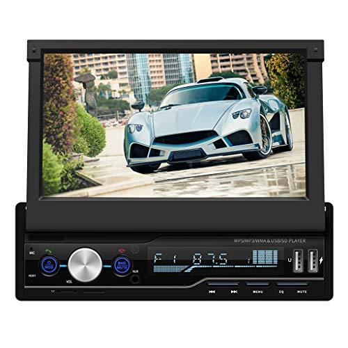 Minusk Universall 7 Zoll Autoradio MP5 Player Multimedia Radio mit HD Touchscreen Unterst tzt BT USB/TF FM Aux Eingang¡