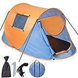 TecTake Wurfzelt Pop-up Zelt Automatikzelt für bis zu 2 Personen