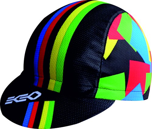 CHAMPION OF THE WORLD BLACK CAP EKEKO MICROPERFORATED VSYSTEM 100% POLYESTER, CYCLING, RUNNING, TRAILRUNNING, TRIATLON
