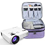 Luxja Beamertasche für QKK Mini Beamer, Tragbar Projektor Tasche für DR.Q Projektor und Zubehör, Lila
