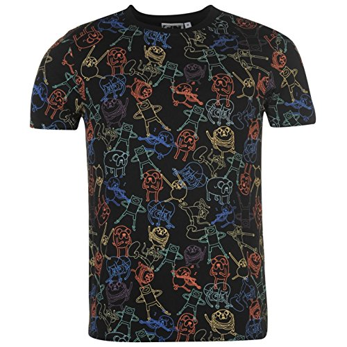 Adventure Time - T-shirt - Homme multicolore noir/multicolore - multicolore - XS