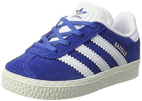 adidas Gazelle, Sneakers Basses Mixte Enfant, Bleu (Blue/Ftwr White/Gold Metallic), 23 EU