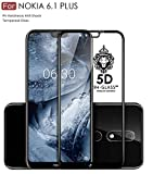 #6: Original Premium Nokia 6.1 + Tempered Glass – WOW Imagine® Premium 6D Full Glue NOKIA 6.1 Plus Tempered Glass, Full Edge-Edge Screen Protection For Nokia 6.1 Plus [ SPECIAL PRICE FOR NOKIA - LIMITED PERIOD OFFER ] - Black