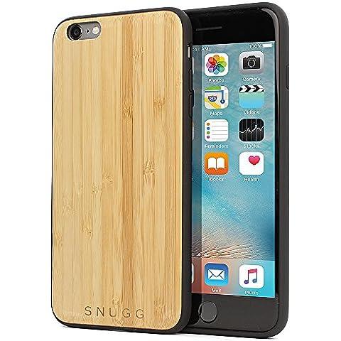 Funda iPhone 6 Plus / 6s Plus, Carcasa Snugg Anti-Impactos para Apple iPhone 6 Plus / 6s Plus [Madera Genuina] Ultrafina Revestimiento de TPU -