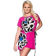 1001-kleine-Sachen 'At Tunique de plage Malibu avec strass Plage T-shirt d'été Robe Mini robe robe de plage mode en 6couleurs