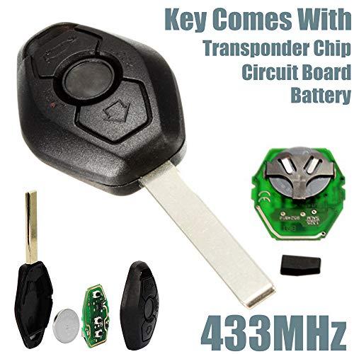 B Autoschlüssel FOB Keyless Entry Remote Passt für BMW E46 E39 3 5 7 Z3 M3 M5 ()