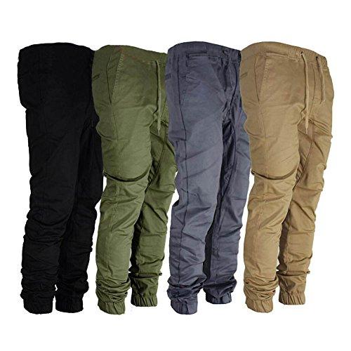 Pantaloni da Jogging Uomo - Slim Fit Sportivi Tacksuit Confortevole Vita Elastica Jogger Pantalone Casual Allenamento Fitness Pantaloni Army Green