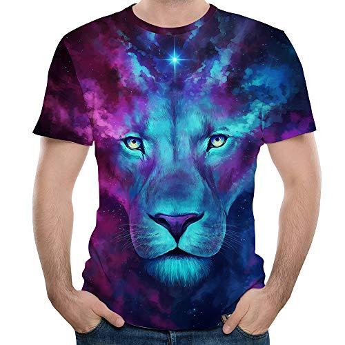 ASHION Herren Damen Mode Splash-Tinte 3D Druck Tees Shirt Kurzarm T-Shirt Bluse Tops Valentinstag Fuer ihn/sie ()