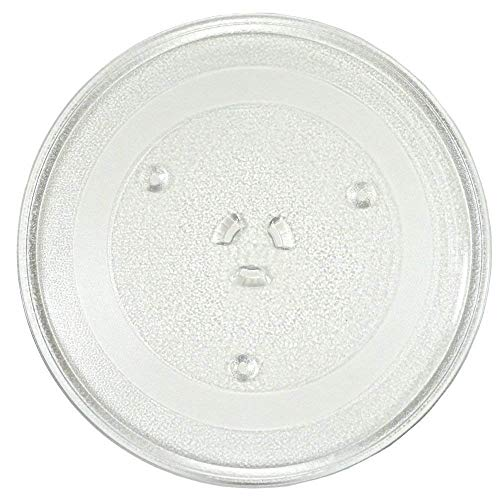 """irkaja Microwave Oven Replacement Turntable/Rotating/Baking Glass Tray/Plate (Diameter: 255mm / 10"""" (Coupler))"""