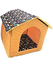 The DDS Store Foldable Velvet Fabric Pet House, Small (Colour May Vary)