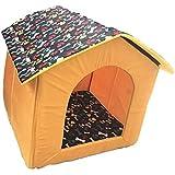 Dog Lovers Designer Printer Foldable Velvet Fabric Pet House Small Color & Design May Vary