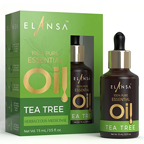 Elansa Pure Tea Tree Essential Oil, 15ml