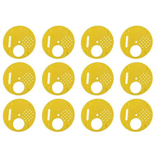Preisvergleich Produktbild Akozon Kunststoff Biene Eingangstür-Kekse 12 teile / satz Kunststoff Beehive Nuc Box Eingang Tore Imkerei Ausrüstung Nuc Box Tor Bienen Nest Tür Eingang Disc Bienenzucht Werkzeug