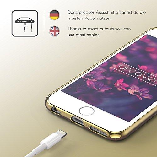 Urcover® Apple iPhone 6 / 6s Hülle Oriental Silikon Case mit Stylischem Muster Handyhülle Gold / Blau Cover Back Schutzhülle Handyschutz Gold / Blau