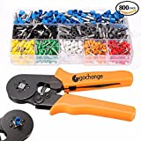 800 Stecker Crimpzange Set, GOCHANGE Zwinge Crimper Zange mit 800 Aderendhülsen Kabelschuhe Tool Kit, 0.25-6.0mm Crimpwerkzeuge für isolierte unisolierte Aderendhülsen Ratsche Kabelschuhe