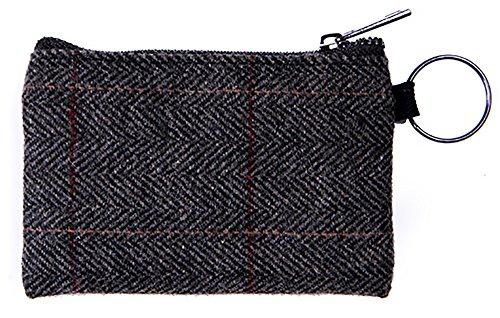 Heritage Traditions Grey Herringbone Tweed Small Travel