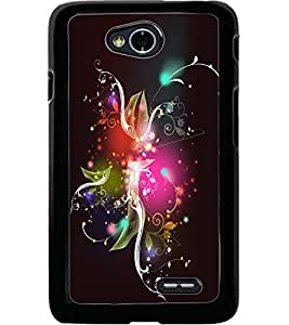ColourCraft Abstract Image Design Back Case Cover for LG L70