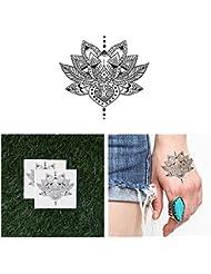 Tattify Tatouages Temporaires Tradtionnel Style Lotus - Mangeur De Lotus (Set de 2)