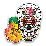 2x Pegatinas de vinilo de calavera México Festival día de los muertos # 7382