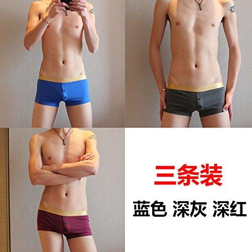 upper-3cartuccia ragazzi boxer cotone cotone mix Layka intimo da uomo a vita bassa boxer intimo pantaloni gioventù Marea shorts M J XL A6