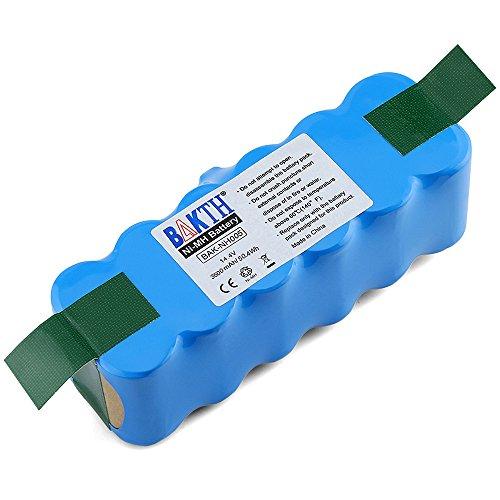 BAKTH Batterie de rechange Ni-MH 3500mAh pour Aspirateur iRobot Roomba 500 600 700 800 510 530 532 535 540 545 550 552 560 562 570 580 581 582 585 595 600 620 630 631 650 660 700 760 770 780 790 800 870 880 R3 80501 4419696