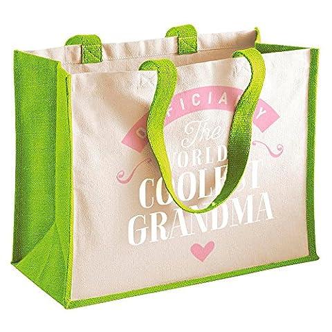 Grandma Gift, Grandma Birthday Bag, Personalised Grandma Gift, Grandma Present, Grandma Bag, Great Grandma Gifts, Grandma Funny Gifts, Grandma Gifts From Granddaughter, Grandma Keepsake, Tote, Shopping Bag (Green)