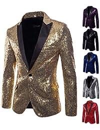 8784f6ffb490 Veste de Costume de Luxe pour Homme Shiny Notch Lapel Slim Fit Vestes de  Smoking