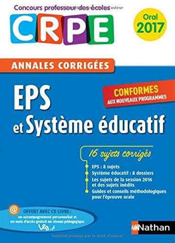 Annales CRPE Oral : EPS et Systme ducatif