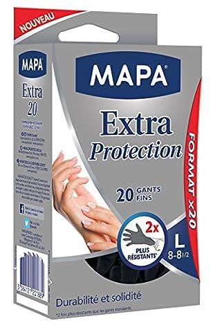 Mapa - Gants de Ménage Extra Protection - 60 gants fins - Taille 8/L