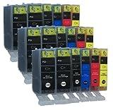 18 TINTENPATRONEN MIT CHIP für Canon mit FREIE FARBAUSWAHL iP4850 iP4950 MG4150 MG5120 MG5150 MG5220 MG5250 MG5340 MG5350 MG6120 MG 6150 MG6250 MG8120 MG8150 MG8240 MX882 MX884 MX885 ersetzt PGI-525 und CLI-526 Pixma Serie mit Chip