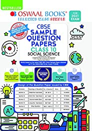 Oswaal CBSE Sample Question Paper Class 10 Social Science Book (Reduced Syllabus for 2021 Exam)