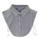 Stripe Hundehalsband False, hunpta Frauen neue Stripe Hundehalsband Bluse Falsche Kleidung Shirt Abnehmbare Halsbänder, dunkelgrau